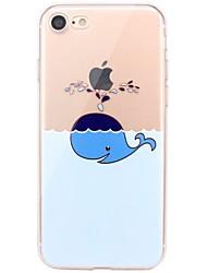 Per iPhone X iPhone 8 Custodie cover Transparente Fantasia/disegno Custodia posteriore Custodia Con logo Apple Animali Morbido TPU per