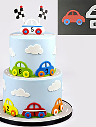 cheap -Sugarcraft Car Set plastic fondant cutter cake mold fondant mold fondant cake decorating tools sugarcraft bakeware
