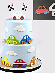 Sugarcraft Car Set plastic fondant cutter cake mold fondant mold fondant cake decorating tools sugarcraft bakeware