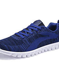 cheap -Men's Sneakers Comfort Mary Jane Spring Fall Knit Athletic Casual Outdoor Lace-up Flat Heel Black Dark Blue Blue Flat