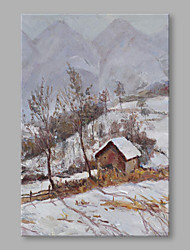 cheap -Hand-Painted Landscape Vertical, High Quality Canvas Oil Painting Home Decoration One Panel