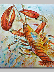cheap -Large Size Hand Painted Crawfish Animal Oil Painting On Canvas Wall Art For Home Decoration No Frame