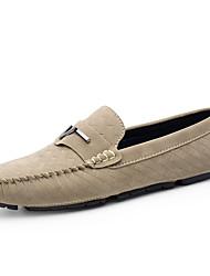 abordables -Unisex Zapatos Ante Verano Otoño Mocasín Zapatos de taco bajo y Slip-On para Casual Oficina y carrera Fiesta y Noche Vestido Negro Gris