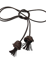 Ladies Fashion Small Rope Knotted Tassel Decorative Belt