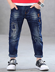 cheap -Boys' Patchwork Jeans,Cotton Spring Summer Blue