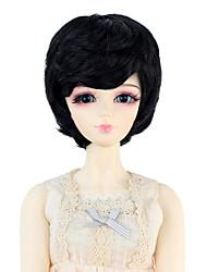 Mulher Perucas sintéticas Liso Preto jet boneca peruca Perucas para Fantasia