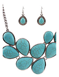 cheap -Women's Turquoise Turquoise Bohemian / Bikini Others Jewelry Set - Personalized / Unique Design / Dangling Style Turquoise Jewelry Set /