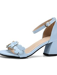 cheap -Women's Shoes Patent Leather Summer Formal Shoes Light Soles Flower Girl Shoes Slingback Comfort Sandals Walking Shoes Low Heel Chunky
