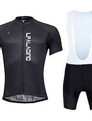 KEIYUEM Maglia con salopette corta da ciclismo Per uomo Unisex Manica corta Bicicletta Calze/Collant/Cosciali Pantaloncini imbottiti di
