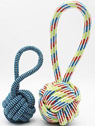 Недорогие -Игрушка для котов Игрушка для собак Игрушки для животных Жевательные игрушки Игрушка для очистки зубов Милый стиль Веревка Хлопок Для