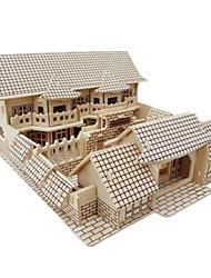 Недорогие -3D пазлы Пазлы Деревянные игрушки Наборы для моделирования Знаменитое здание Китайская архитектура моделирование Своими руками деревянный