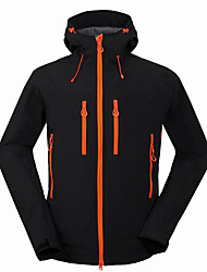 Men's Hiking Softshell Jacket Outdoor Waterproof Thermal / Warm Windproof Rain-Proof Breathable Wearproof Jacket Top for Camping / Hiking