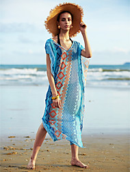 Women's Boho Sexy Loose Long Beach Cover-Ups , Chiffon