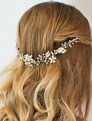 cheap -Rhinestone Alloy Headbands Headwear Head Chain Hair Tool with Floral 1pc Wedding Special Occasion Anniversary Congratulations Party /