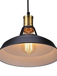 cheap -Diameter 30cm Vintage Pendant Lights 1-Light Metal Shade Living Room Dining Room Hallway Lighting