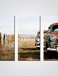 cheap -Stretched Canvas Print Three Panels Canvas Horizontal Print Wall Decor Home Decoration