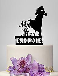 Decorazioni torte Coppiaclassica Matrimonio Classico Romanticismo Matrimonio Borsa plexiglas