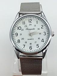 Men's Dress Watch Wrist watch Quartz Metal Band Vintage Cool Casual Silver