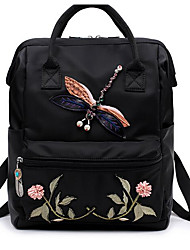 Women Bags All Seasons Oxford Cloth Backpack for Casual Black