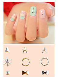 Pinpai Foreign Trade Explosions 16 Metal Rivet Shaped Nail Drill Art Polish Chip Factory Outlet Nail Art Design