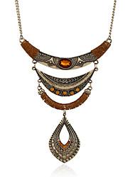 cheap -Women's Personalized Bohemian Tassels Euramerican Handmade Choker Necklace Pendant Necklace Statement Necklace Metal Alloy Resin
