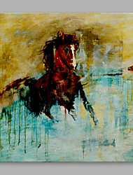 IARTS® Hand Painted Oil Painting Modern Running Horse Abstract Art Acrylic Canvas Wall Art For Home Decoration