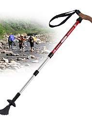 4 Trekking Poles Nordic Walking Poles Multifunction Walking Poles Trekking Pole Accessories 110cm (43 Inches)Damping Adjustable Length