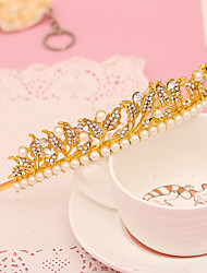 imitación perla rhinestone aleación tiaras diademas casco estilo elegante