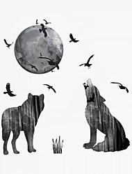 Недорогие -Пейзаж Животные Мода Наклейки Простые наклейки Декоративные наклейки на стены 3D, пластик Украшение дома Наклейка на стену Стена Окно