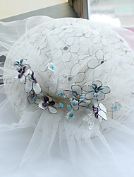 Tulle Basketwork Fabric Silk Net Headpiece-Wedding Special Occasion Birthday Party/ Evening Fascinators Hats 1 Piece