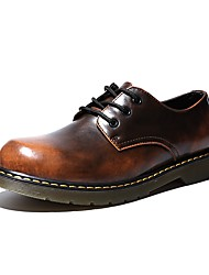 cheap -Men's Oxfords Comfort Light Soles Fall Winter Real Leather PU Leather Nappa Leather Casual Office & Career Party & Evening Flat Heel