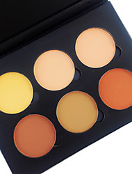 cheap -6 Color in 1 Palette , 4 Color Palette Select Powder Concealer/Contour Blush Highlighters/Bronzers Pressed Powder Dry Matte Pressed powder
