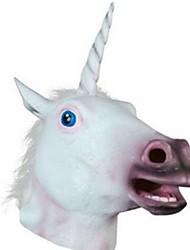 Недорогие -Маски на Хэллоуин Животная маска единорог Ужасы клей Куски Взрослые Универсальные Игрушки Подарок