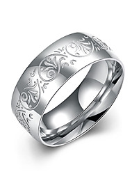 cheap -Men's Ring - Stainless Steel Flower 7 / 8 / 9 Silver For Wedding / Party / Office / Career