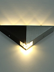cheap -Aluminum Modern Triangle 5W LED Wall Sconce Light Fixture Indoor Hallway Up Down Wall Lamp Spot Light