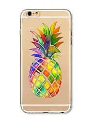 Etui til iphone 7 plus 7 cover gennemsigtigt mønster bagside cover frugt ananas soft tpu til apple iphone 6s plus 6 plus 6s 6 se 5s 5c 5