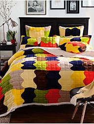 Flannel Stripe Polyester Blankets