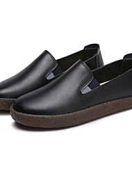 Women's Loafers & Slip-Ons Driving Shoes Comfort Light Soles Real Leather Cowhide Spring FallCasual Outdoor Office & Career Party &