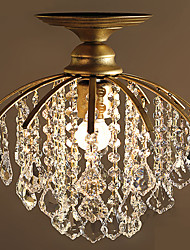European-style simple crystal lamp with simple crystal chandelier single bedroom and aisle bar