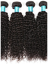 Kinky Curly Hair 4 Bundles Brazilian Virgin Hairs 400g Human Hair Extensions Human Hair Weft Women Hair