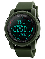 SKMEI Herre Sportsur Militærur Modeur Casual Ur Digital Watch Armbåndsur Unik Creative Watch Japansk Digital LED Kompas Kalender