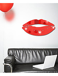 Lips Background DIY Specular Adornment Bedroom Wall Stickers