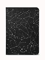 Pour apple ipad (2017) pro 9.7 '' housse avec stand flip pattern auto sommeil / réveil corps plein ciel ciel pu pu cuir air air2
