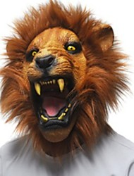 cheap -Halloween Masks Animal Mask Toys Party Lion Latex Rubber Glue Horror 1 Pieces Unisex Halloween Masquerade Gift