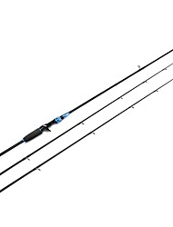 HiUmi 2 Piece Casting Rod Carbon Fiber Travel Fishing Rod 2 Tips M and MH Lure Fishing Rod 2.1m 2.4m