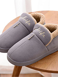 cheap -Solid House Slippers Men's Slippers Polyester Knit solid color