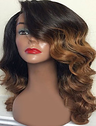 cheap -Human Hair Lace Wig Deep Wave Full Lace Glueless Full Lace 100% Hand Tied African American Wig Natural Hairline Ombre Hair 130% Density