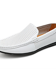 cheap -Shoes Cowhide Leather Spring Summer Comfort Loafers & Slip-Ons for Casual White Black Yellow