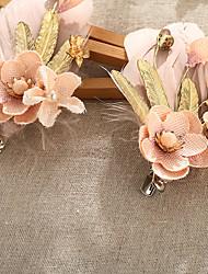 cheap -Rhinestone Feather Fabric Alloy Flowers Hair Clip Hair Claws Headpiece