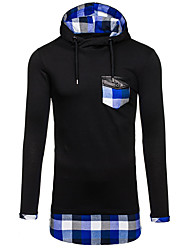 cheap -Men's Sports Hoodie - Color Block, Patchwork Hooded